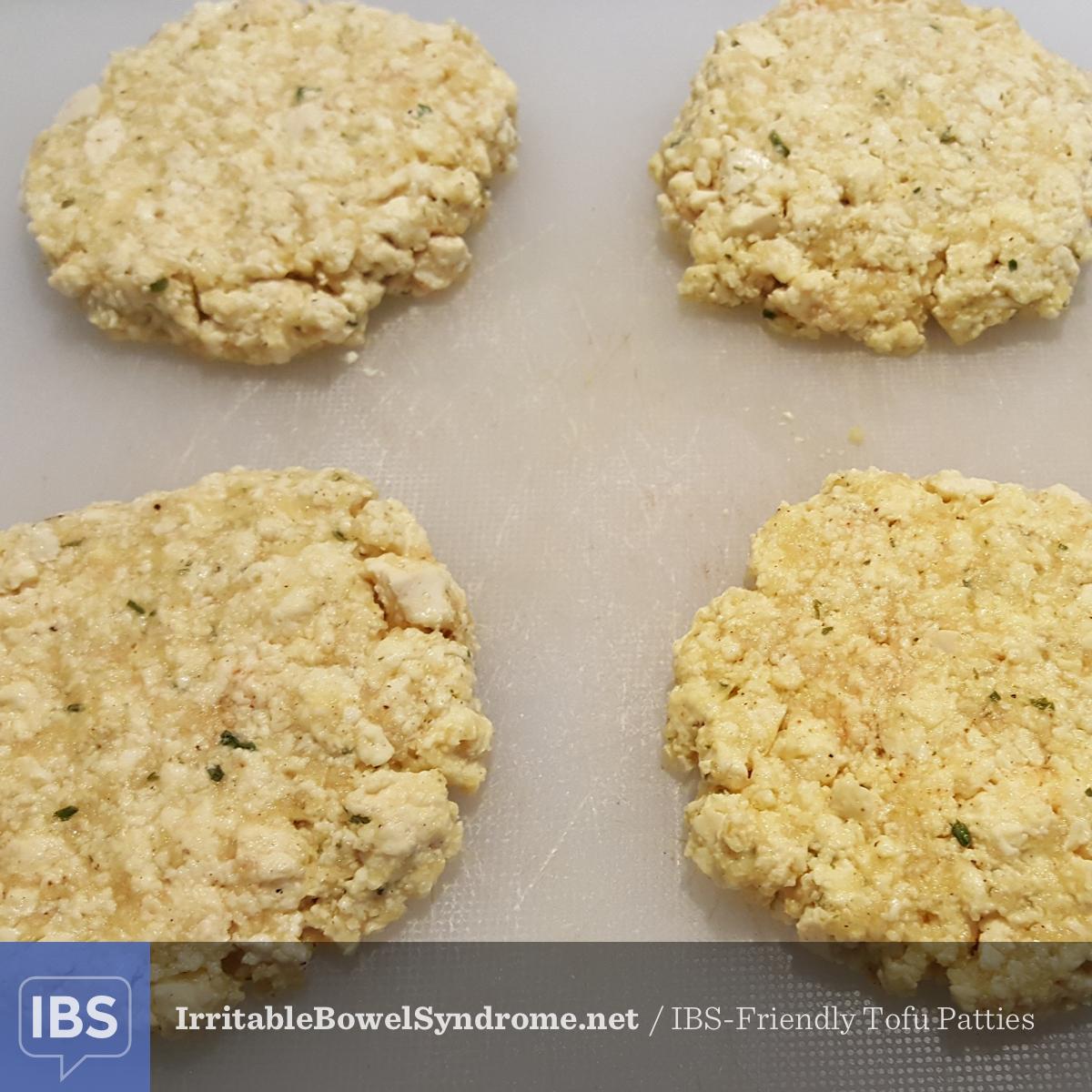 IBS Friendly Tofu Patties
