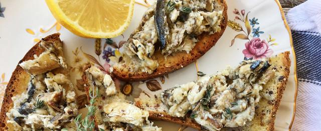 Lemon & Thyme Sardines on Toast image