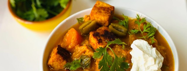 Veggie Loaded Crispy Tofu Stew image