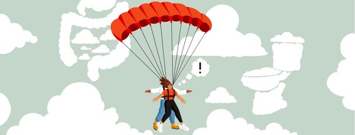 Skydiving with IBS image