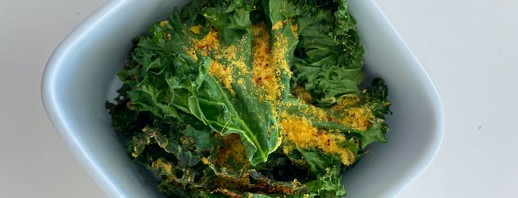 Faux Cheesy Kale Chips image