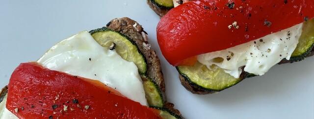 Veggie Mediterranean Breakfast Tartine image