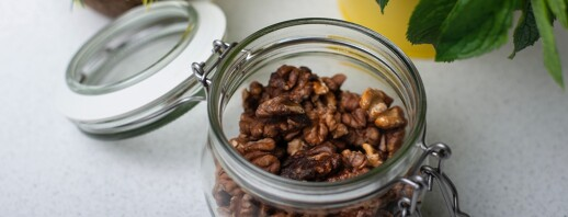 Sweet and Spicy Roasted Walnuts image