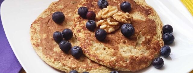 Low FODMAP Banana Protein Pancakes image